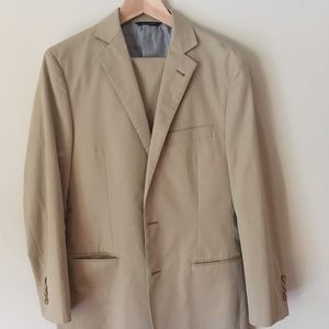Brooks Brothers 1818 Fitzgerald Tan Cotton Suit
